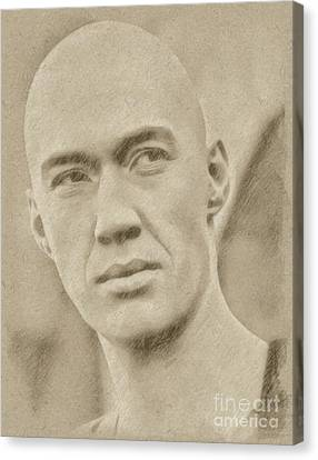 David Carradine From Kung Fu Canvas Print by Frank Falcon