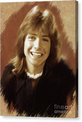 Glamor Canvas Print - David Cassidy, Actor by Mary Bassett