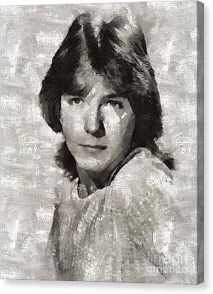 Glamor Canvas Print - David Cassidy, Singer And Actor by Mary Bassett