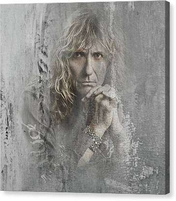 David Coverdale From Whitesnake Canvas Print by Maria Astedt