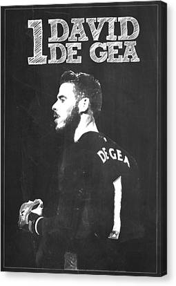 Wayne Rooney Canvas Print - David De Gea by Semih Yurdabak