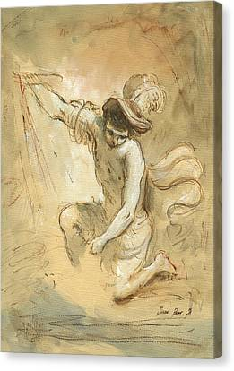 David Figure Drawing Canvas Print by Juan Bosco