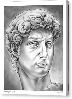 David Canvas Print by Greg Joens