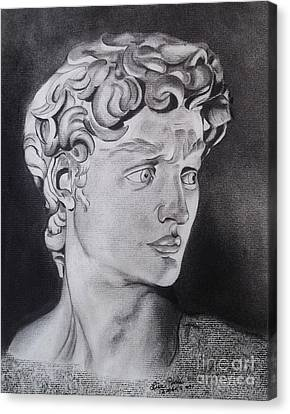David In Pencil Canvas Print by Lise PICHE
