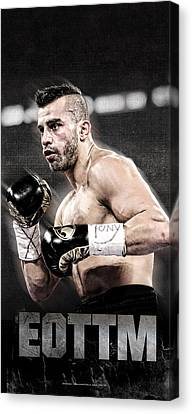 Boxe Canvas Print - David Lemieux Iphone Cover  by Nicholas Legault