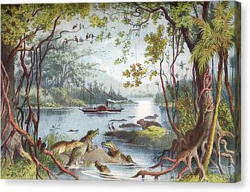 David Livingstone S Ship The Ma-robert Canvas Print by Vintage Design Pics