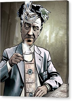 Mix Media Canvas Print - David Lynch - Strange Brew by Sam Kirk