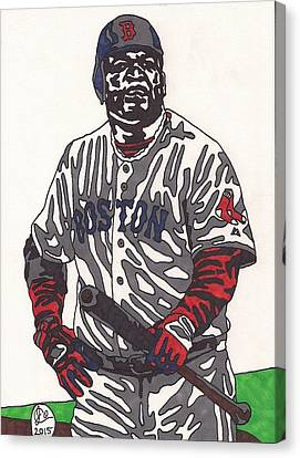 Boston Red Sox Canvas Print - David Ortiz 1 by Jeremiah Colley