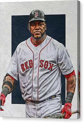 David Ortiz Boston Red Sox Art Canvas Print by Joe Hamilton