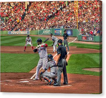 David Ortiz - Bostonn Red Sox Canvas Print by Joann Vitali
