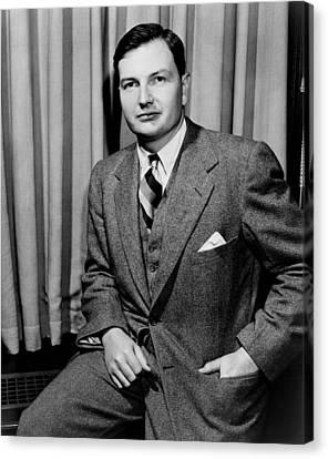 1950s Portraits Canvas Print - David Rockefeller B. 1915 Grandson by Everett
