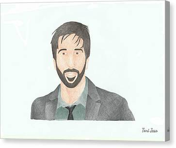 David Schwimmer Canvas Print by Toni Jaso