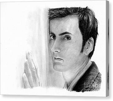 David Tennant 2 Canvas Print by Rosalinda Markle
