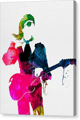 David Watercolor Canvas Print by Naxart Studio