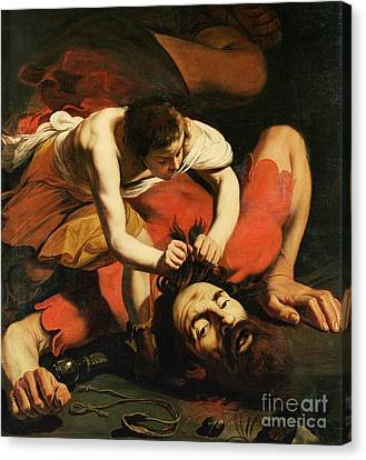 David With The Head Of Goliath Canvas Print by Michelangelo Caravaggio