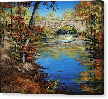 Davies Bridge In November Canvas Print