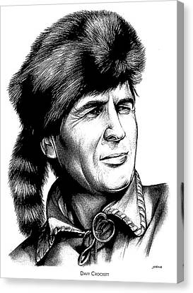 Davy Crockett Canvas Print by Greg Joens