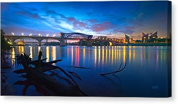 Dawn Along The River Canvas Print by Steven Llorca