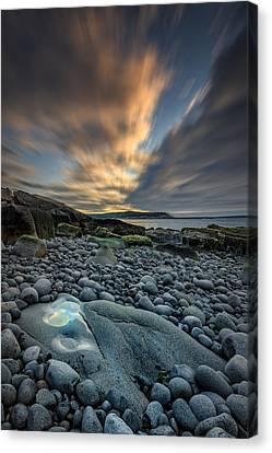 Rocky Maine Coast Canvas Print - Dawn At Boulder Beach by Rick Berk