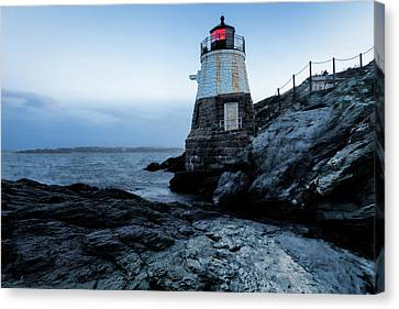 Canvas Print featuring the photograph Dawn At Castle Hill Lighthouse by Andrew Pacheco