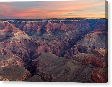 Dawn At Grand Canyon Canvas Print by Pierre Leclerc Photography