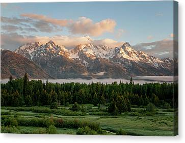 Dawn At Grand Teton National Park Canvas Print