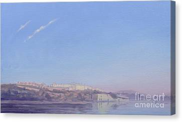 Dawn At Jaipur Canvas Print by Derek Hare