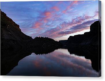 Canvas Print featuring the photograph Dawn At Lake Billy Chinook by Cat Connor