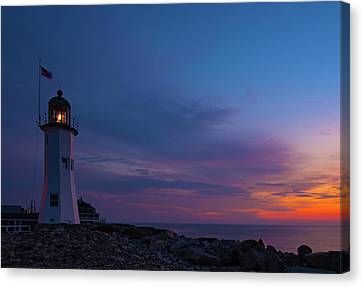 Dawn At Scituate Light Canvas Print