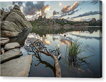 Canvas Print featuring the photograph Dawn At Sylvan Lake by Adam Romanowicz