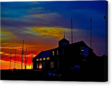 Dawn At The Boatbuilder  Canvas Print by Jeffrey Canha