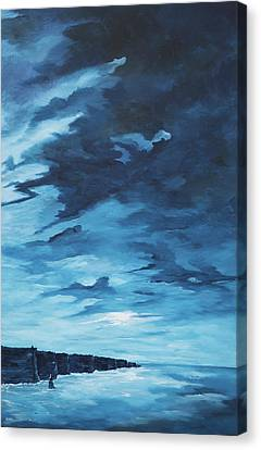 Dawn At The Cliffs Canvas Print
