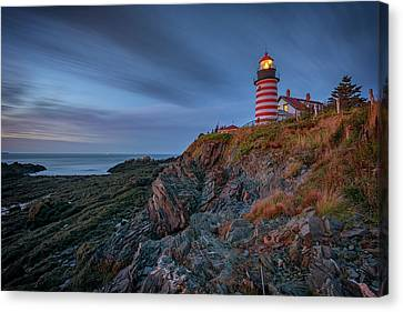 East Quoddy Lighthouse Canvas Print - Dawn At West Quoddy Head by Rick Berk