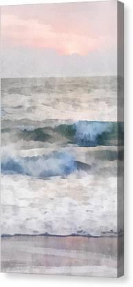 Canvas Print featuring the digital art Dawn Beach by Francesa Miller