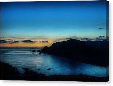 Dawn Blue In Mediterranean Island Of Minorca By Pedro Cardona Canvas Print by Pedro Cardona