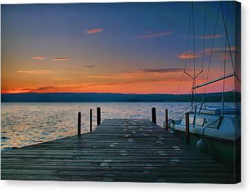 Dawn Breaking Canvas Print by Steven Ainsworth