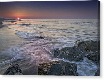 Dawn Breaks At Cape May Canvas Print by Rick Berk