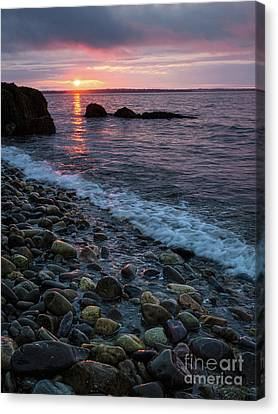 Dawn, Camden, Maine  -18868-18869 Canvas Print by John Bald