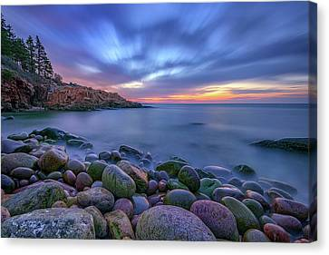 Dawn In Monument Cove Canvas Print by Rick Berk