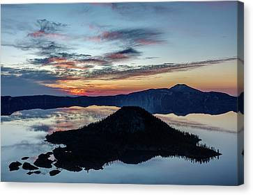 Canvas Print featuring the photograph Dawn Inside The Crater by Pierre Leclerc Photography