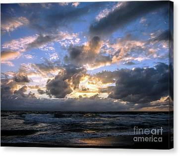 Dawn Of A New Day Treasure Coast Florida Seascape Sunrise 138 Canvas Print