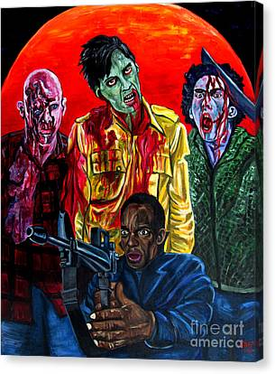 George Romero Canvas Print - Dawn Of The Dead by Jose Mendez