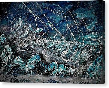 Dawn Of The Ice Age Canvas Print
