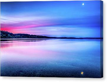 Canvas Print featuring the photograph Dawn On Bainbridge Island by Spencer McDonald