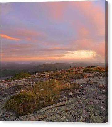 Maine Mountains Canvas Print - Dawn On Cadillac Mountain by Stephen  Vecchiotti