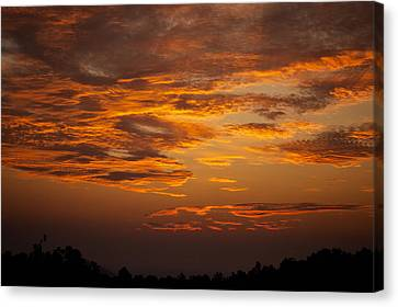 Dawn On Gaither Mountain At Ponca Wilderness Canvas Print