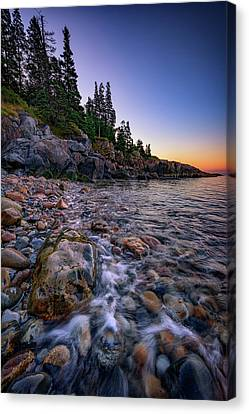 Dawn On Little Hunter's Beach, Acadia Canvas Print by Rick Berk