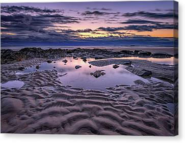 Canvas Print featuring the photograph Dawn On Wells Beach by Rick Berk