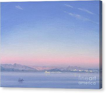 Dawn Over Lake Piccola Canvas Print