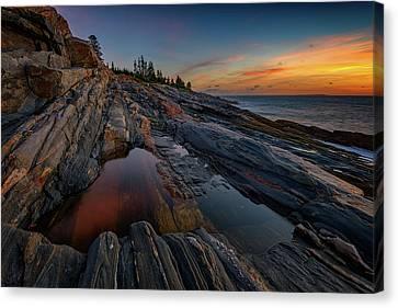 New England Lighthouse Canvas Print - Dawn Over Pemaquid Point by Rick Berk
